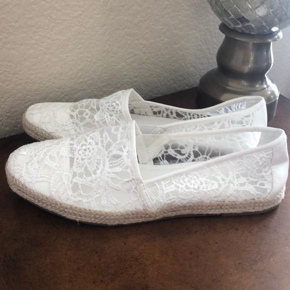 Nwot Graceland White Lace Espadrilles